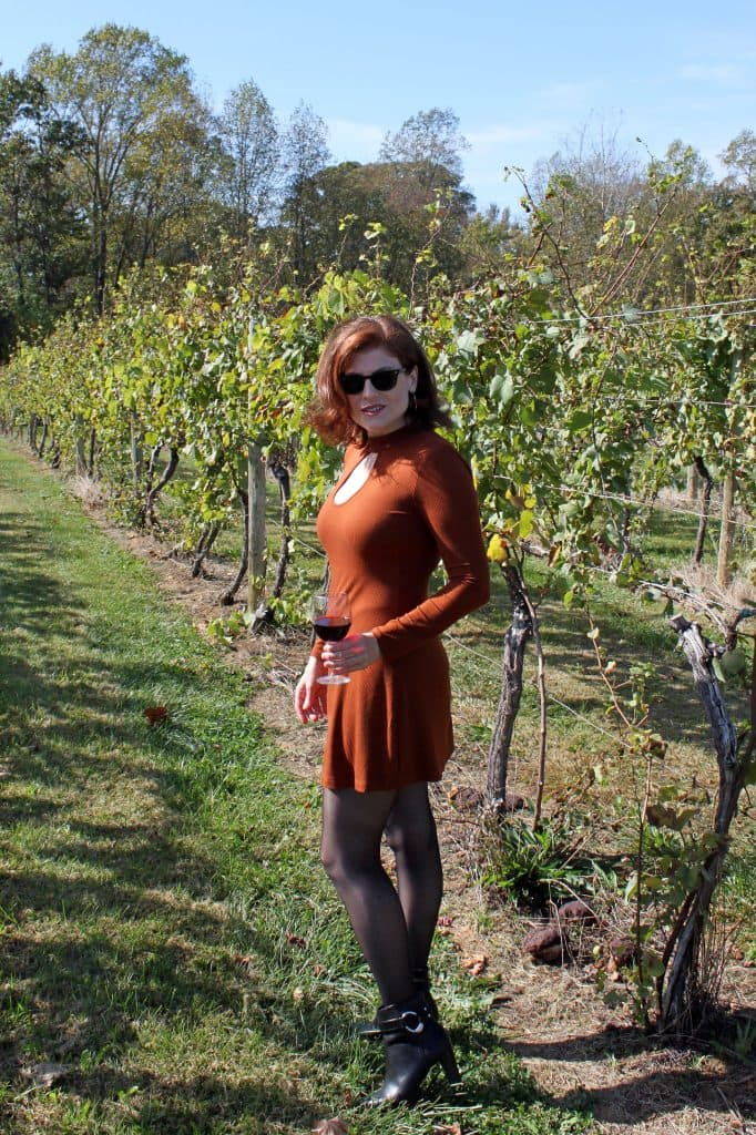 Prince Michel Winery - Jana in Vineyard