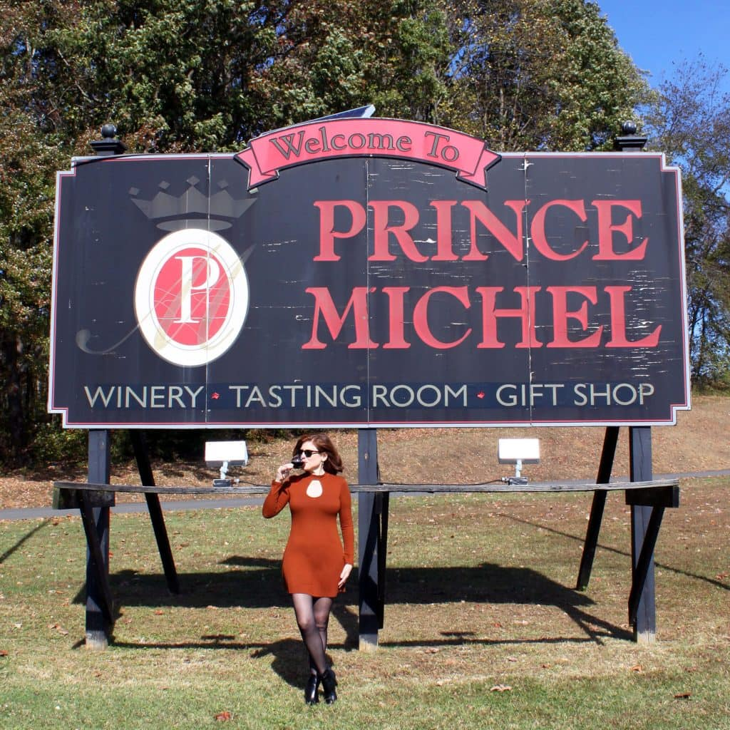 Prince Michel Winery - Welcome Sign