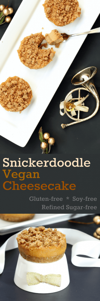 Snickerdoodle Vegan Cheesecake - Collage
