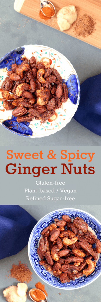 Sweet & Spicy Ginger Nuts Collage