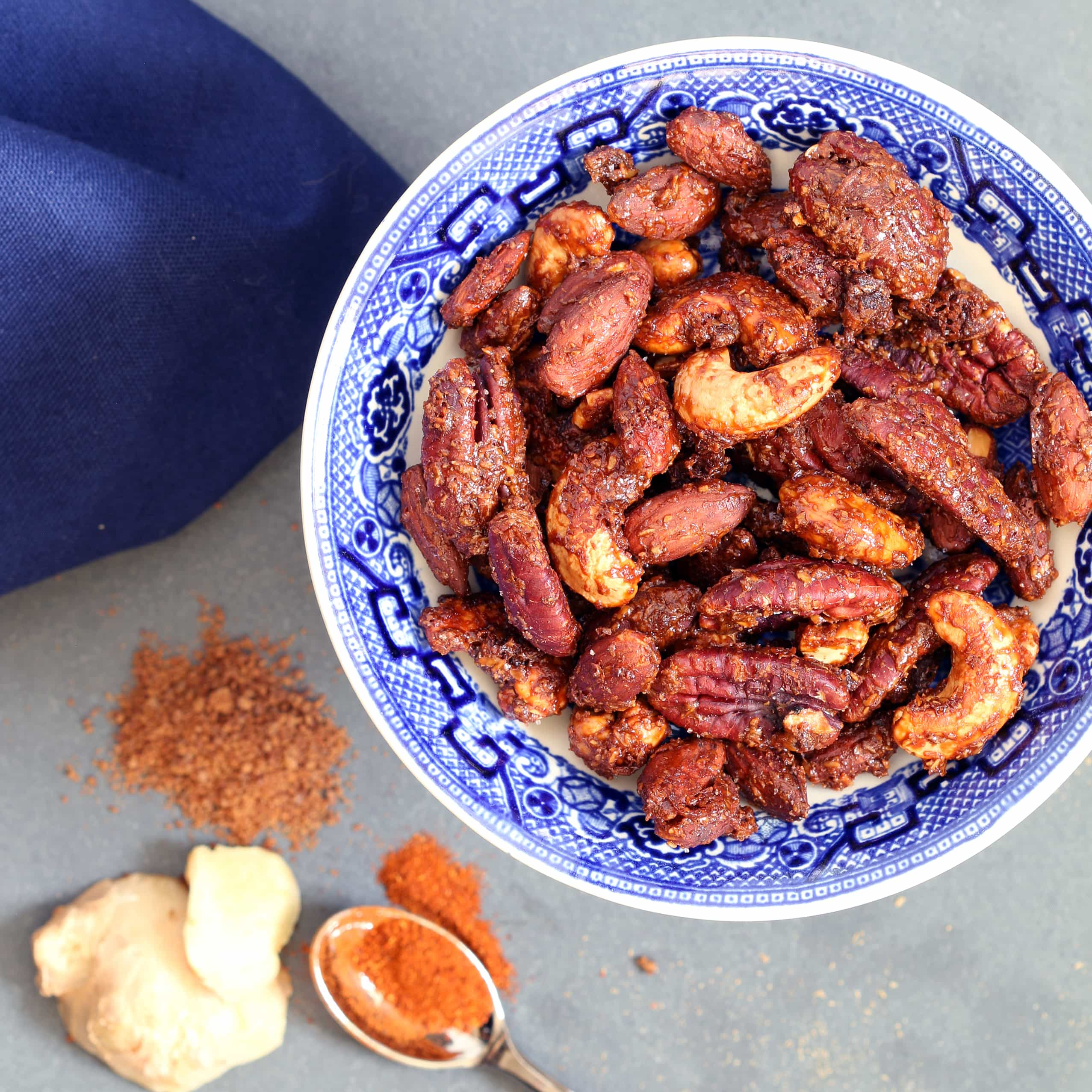 Sweet & Spicy Ginger Nuts (Gluten-free, Plant-based, Refined Sugar-free)