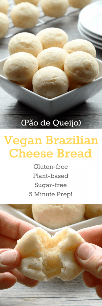 Vegan Brazilian Cheese Bread Collage