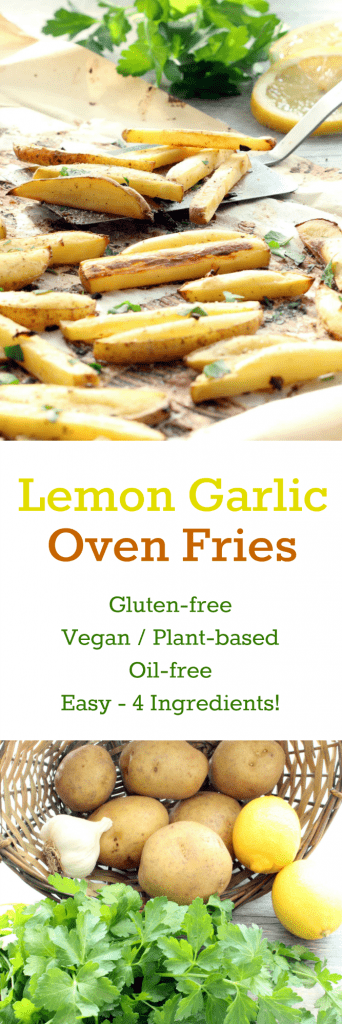 Lemon Garlic Oven Fries Collage