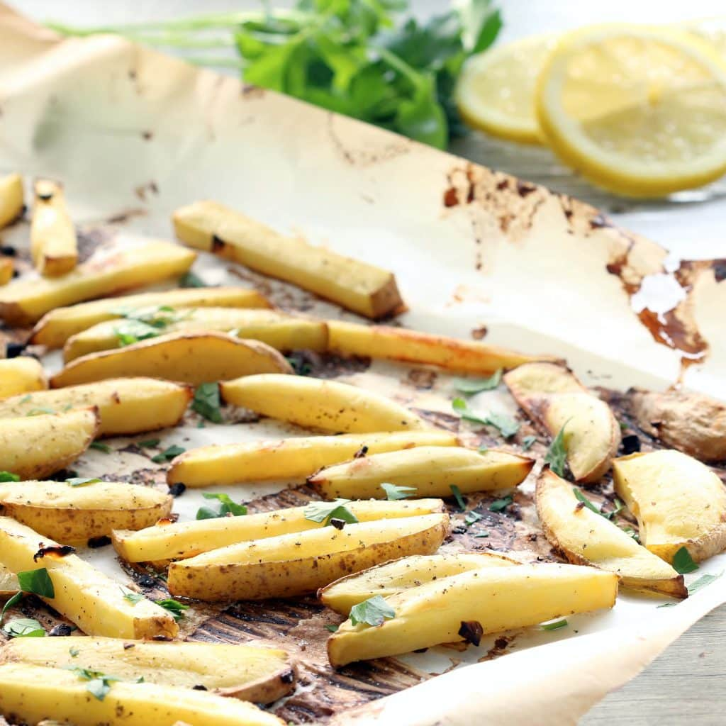 Lemon Garlic Oven Fries