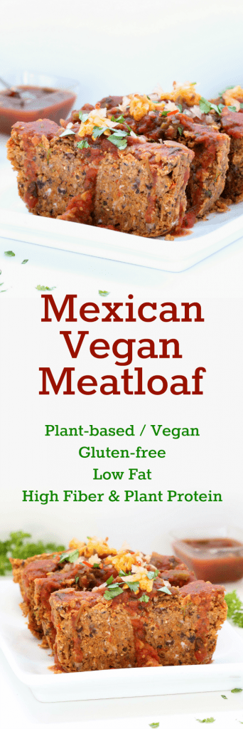 Mexican Vegan Meatloaf Collage