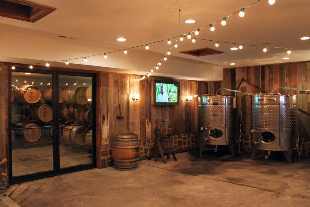 Winery at Bull Run - Cellar and Barrel Room