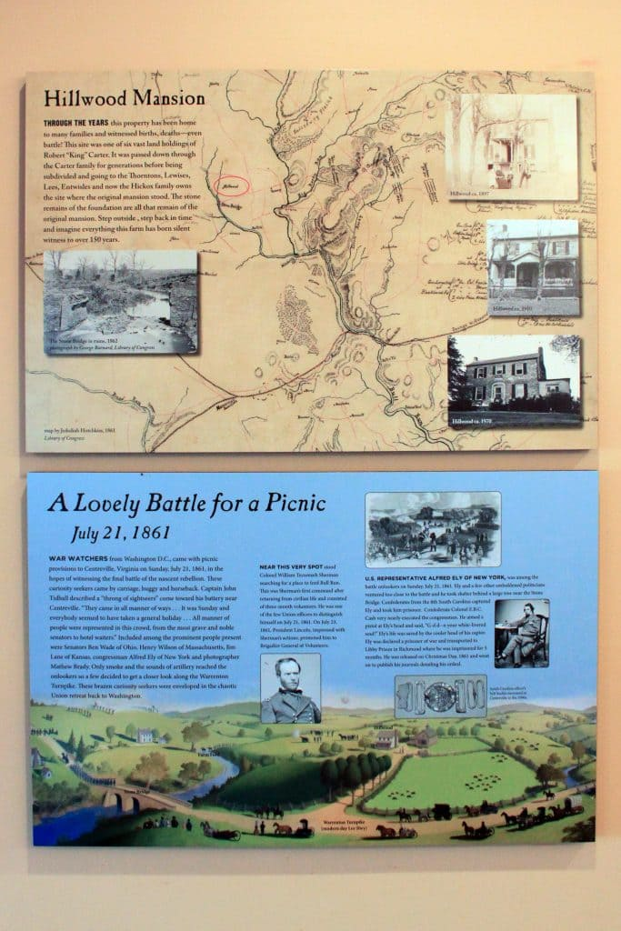 Winery at Bull Run - Historical Placards