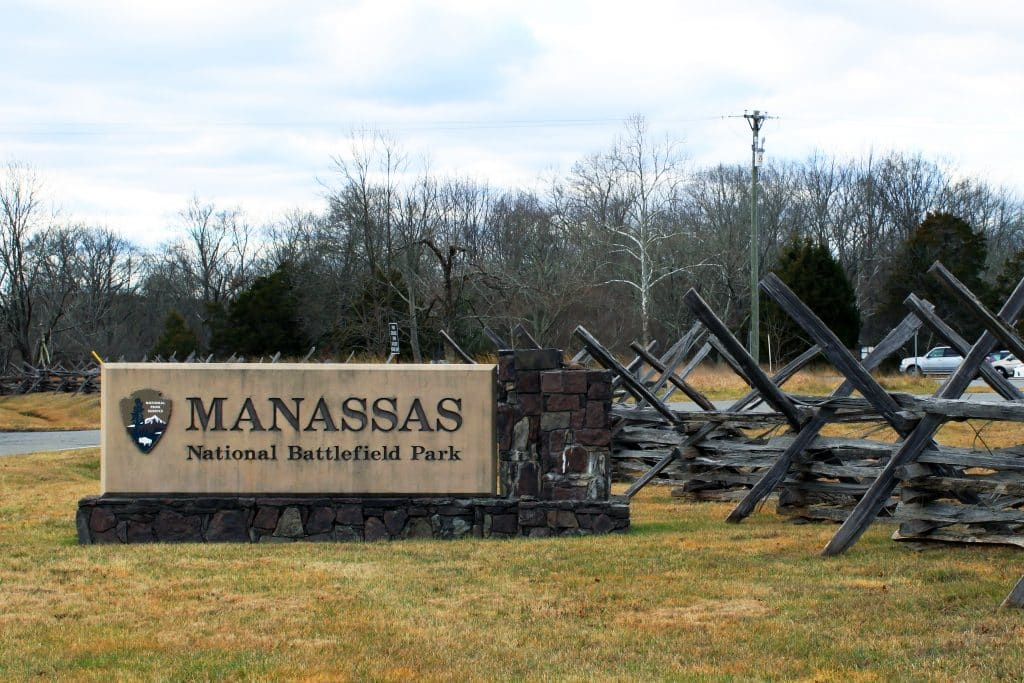 Manassas Battlefield Sign