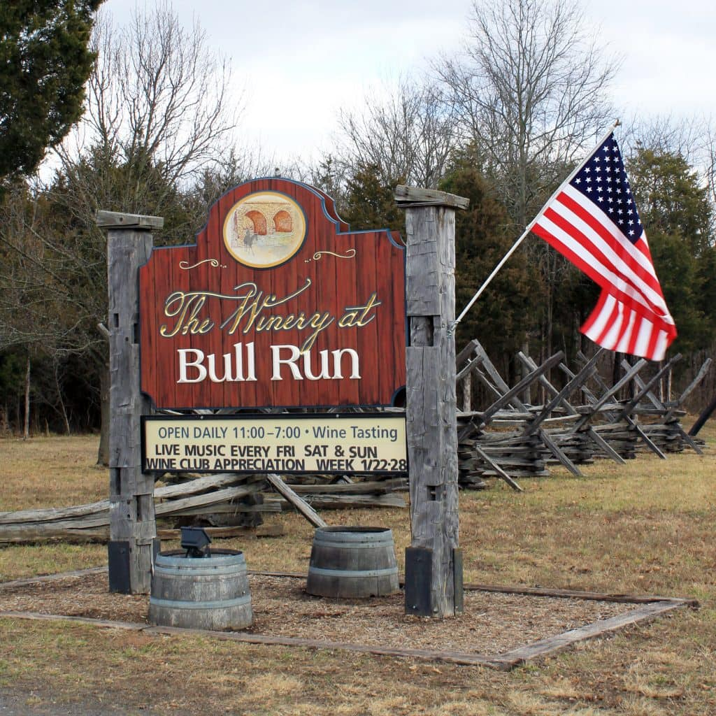 Winery at Bull Run - Welcome Sign
