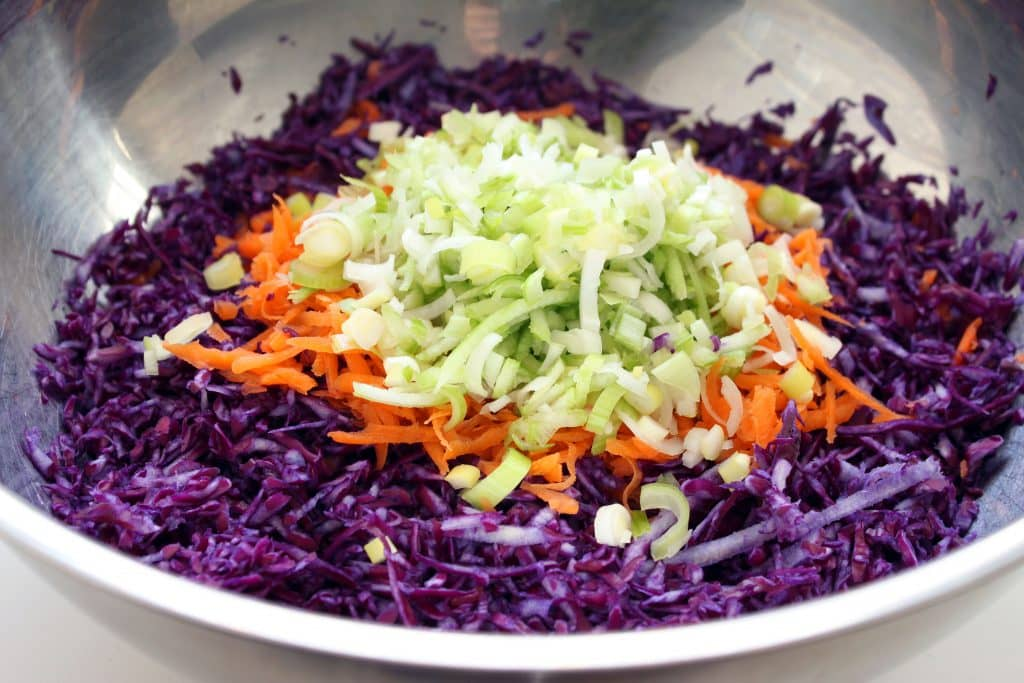 Roasted Leek Potato Slaw - Veggies