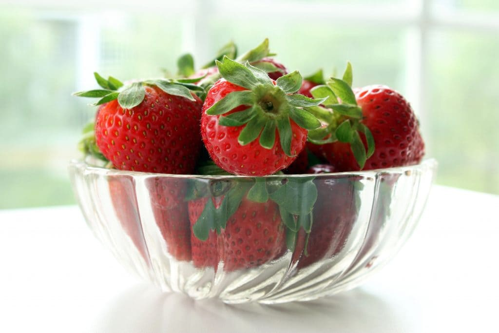 Strawberry Shortcake Breakfast Bowl - Fresh Strawberries