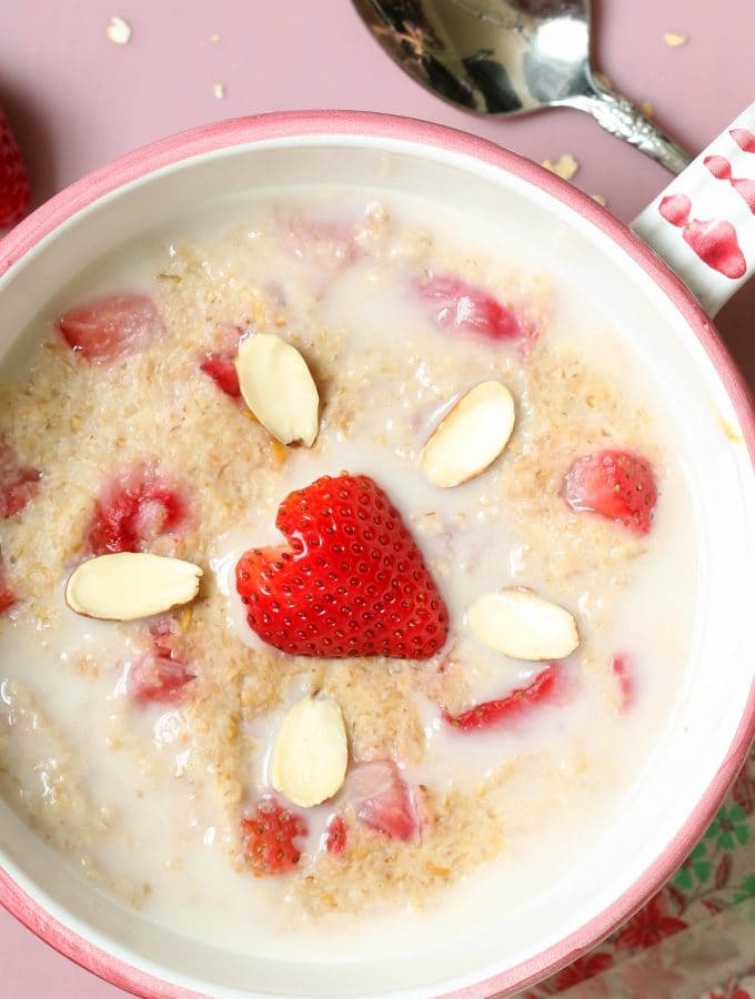 Strawberry Shortcake Breakfast Bowl