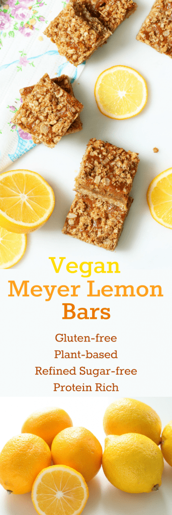 Vegan Meyer Lemon Bars Collage
