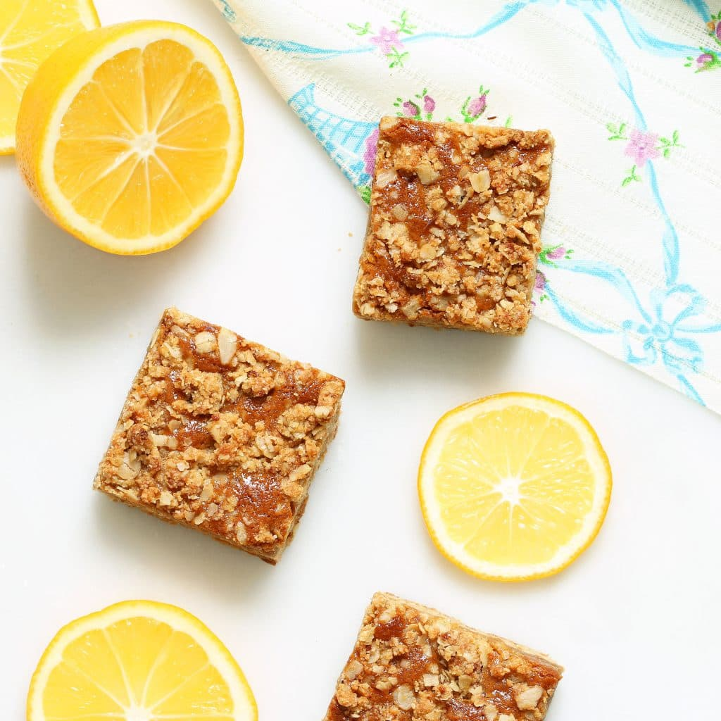 Vegan Meyer Lemon Bars (Gluten-free, Refined Sugar-free)