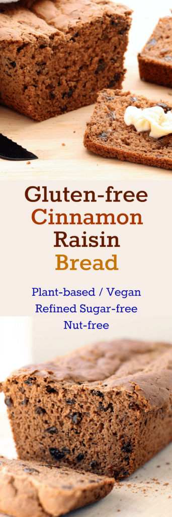 Gluten-free Cinnamon Raisin Bread Collage