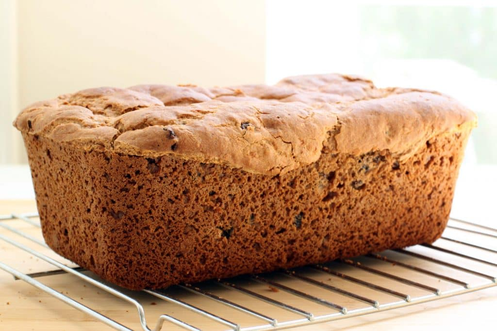 Gluten-free Cinnamon Raisin Bread - Cooling