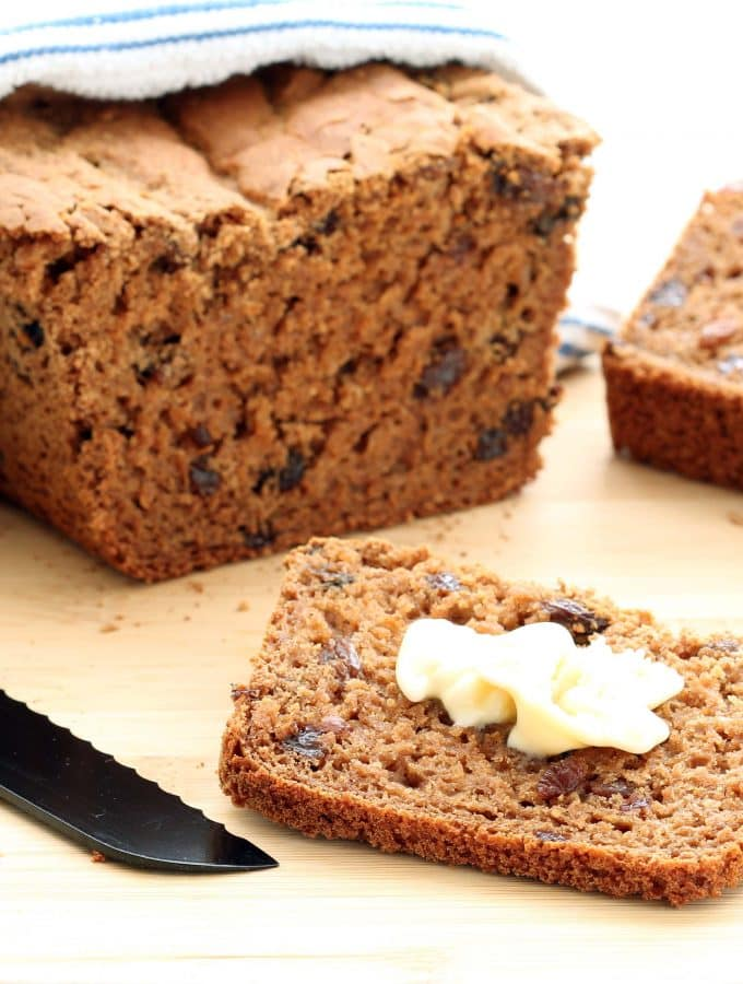 Gluten-free Cinnamon Raisin Bread - Plated 1