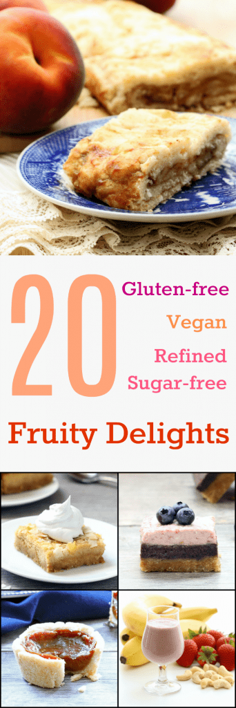20 Gluten-free Vegan Fruity Delights Collage