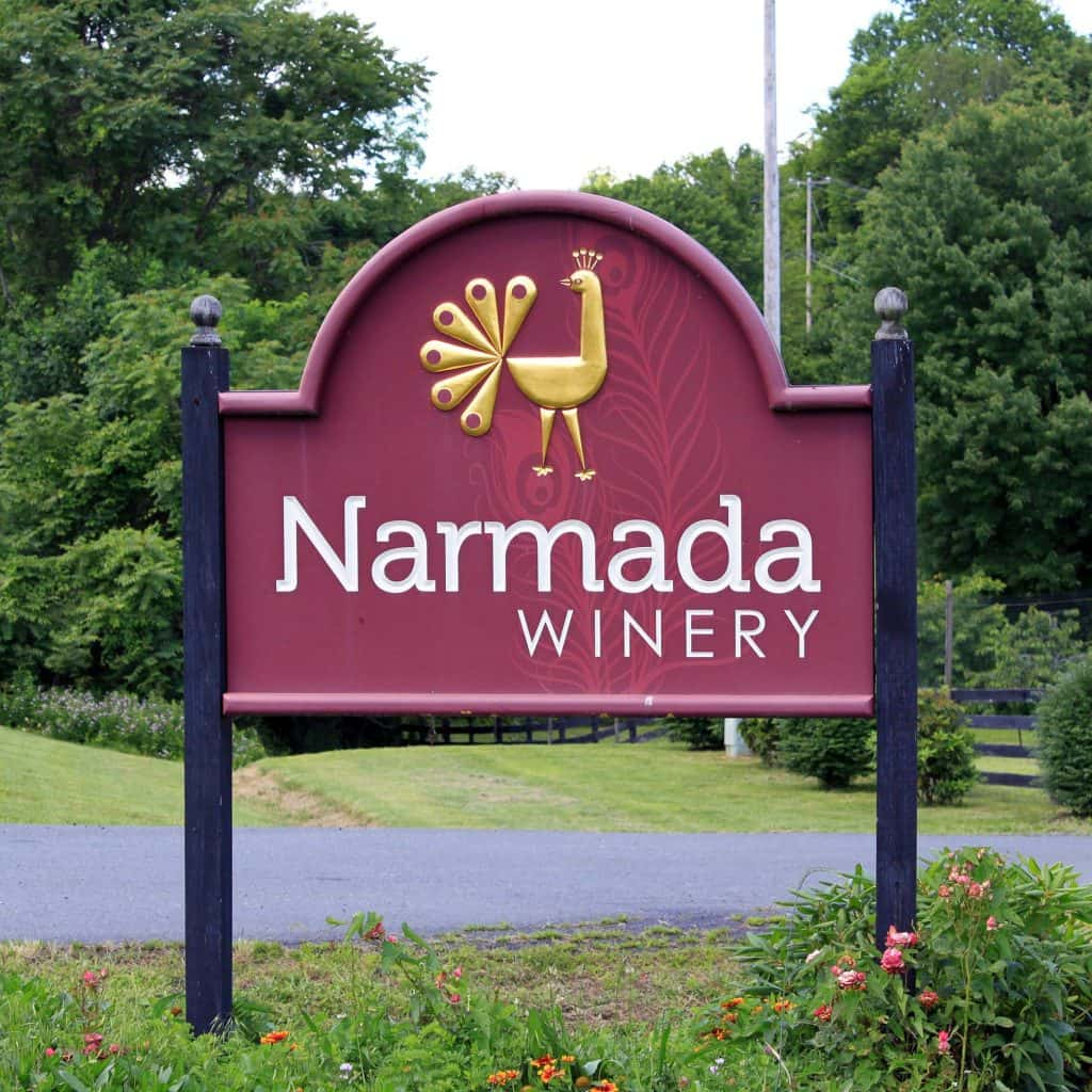 Narmada Winery - Welcome Sign