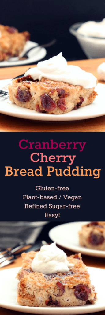 Cranberry Cherry Bread Pudding Collage