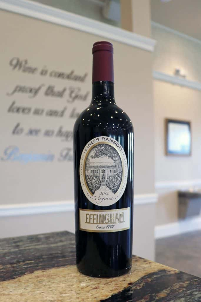 Effingham Manor Winery - 2014 Kings Ransom Bordeaux Blend