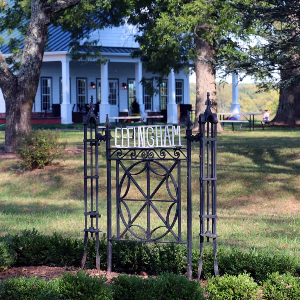 Effingham Manor Winery - Historic Gate