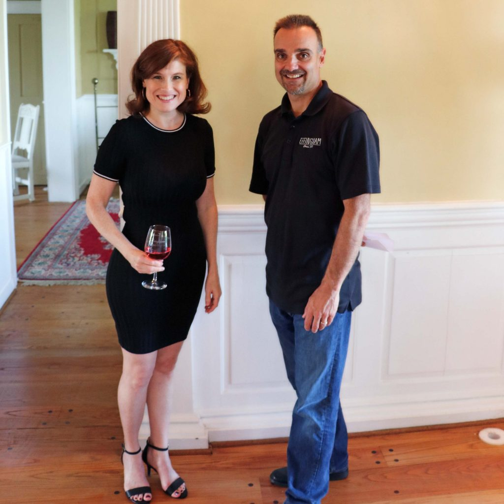 Effingham Manor Winery - Jana and Paul In Manor House