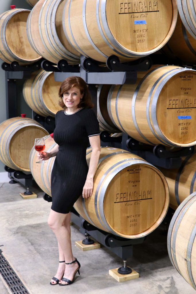 Effingham Manor Winery - Jana in Barrel Room