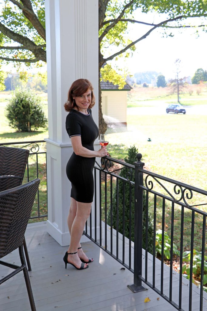 Effingham Manor Winery - Jana on Manor Front Porch
