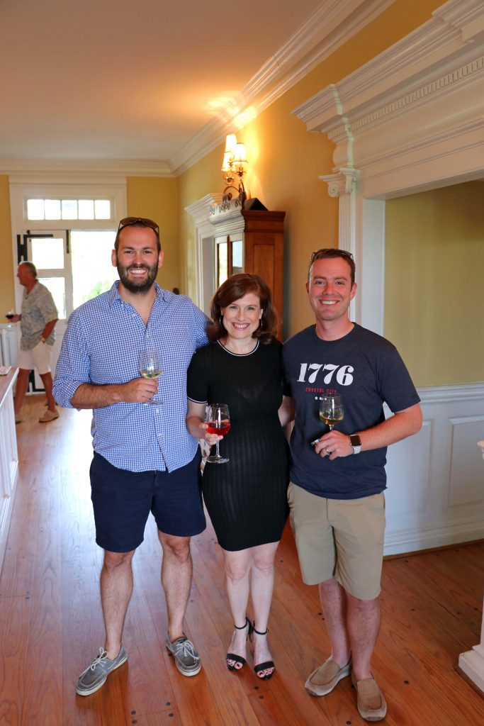 Effingham Manor Winery - Jana with Mike Barefoot and Mike Lawler of VinoWine