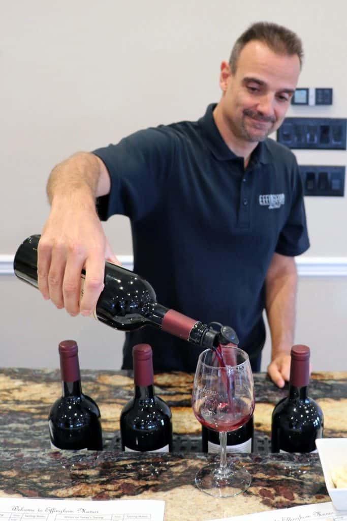 Effingham Manor Winery - Paul Pouring 2015 Merlot