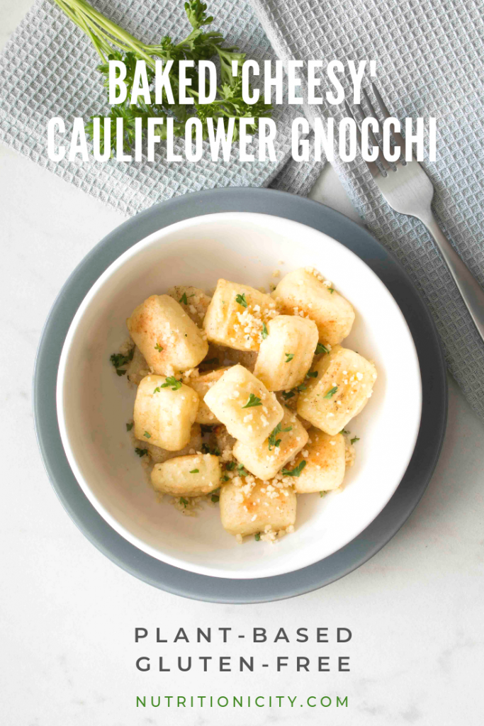 Baked Cheesy Cauliflower Gnocchi Pin